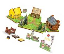The Three Little Pigs Toy House and Storybook Playset