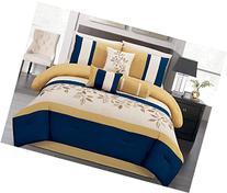Summer Bahama Paradise, Emboridery Comforter Set, Queen,