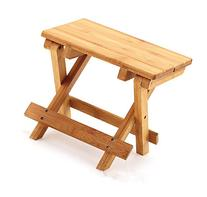 A Little Lemon Wooden Foldable Footstool Fishing Shower Step