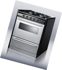 """Summit TNM21027BFRWY Professional 30"""" Stainless Steel Gas"""