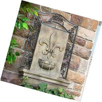Sunnydaze French Lily Outdoor Wall Fountain, Florentine