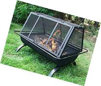Sunnydaze 36 Inch Northland Grill Fire Pit with Protective