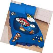 Super Mario Who's With Me Microraschel Blanket, 62-Inches by
