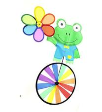 "Supreme Pinwheel - 32""Height 18""Width Frog Character Wind"