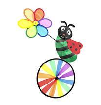 """Supreme Pinwheel - 32""""Height 18""""Width LadyBug Character Wind"""