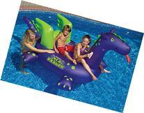 Swimline 90625 Swimming Pool Kids Giant Rideable Sea Dragon