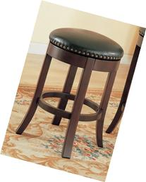 Coaster Home Furnishings Swivel Stool w Upholstered Seat -