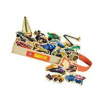 T.S. Shure Construction Vehicles Wooden Magnets 20 Piece