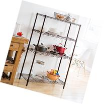 TRINITY 4-Tier NSF Wire Shelving Rack, 36 by 14 by 54-Inch,