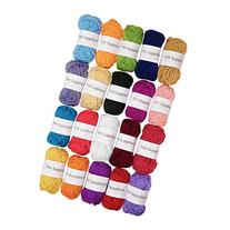 TYH Supplies 20 Skeins Bonbons Yarn Assorted Colors - 100%