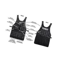 ThinkGeek Tactical Molle Apron - 2 Large Pouches and 3