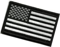 Tactical USA Flag Patch - Black & White by Gadsden and