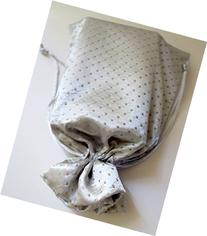 "Tarot Bags: Silver Satin and Pearl 6"" X 9"