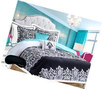 Home Style Teen Girl Bedding Damask Girls Comforter Black