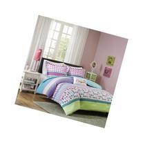 Teen Kids Girls Comforter Bedding Set with Festive Polka