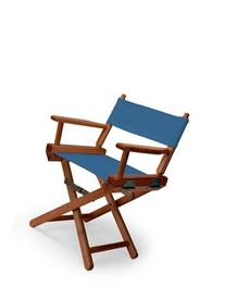 Telescope Casual Child's Director Chair, Indigo with Walnut