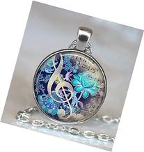 The Color of Music pendant, music necklace music jewelry