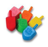 The Dreidel Game! Colored Plastic Dreidels, Medium, 50 Pack