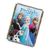 "Disney's Frozen, ""Frozen Fun"" Woven Tapestry Throw Blanket,"