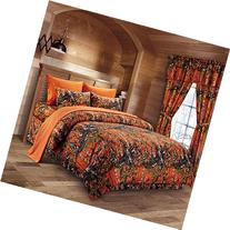 The Woods Orange Camouflage Full 8pc Premium Luxury