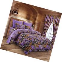 The Woods Purple Camouflage King 8pc Premium Luxury
