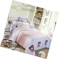 TheFit Paisley Textile Bedding for Adult U207 Pastel Bear