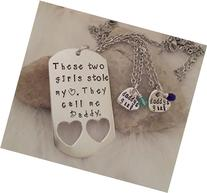 These Two Stole My Heart They Call Me Daddy Jewelry Set For