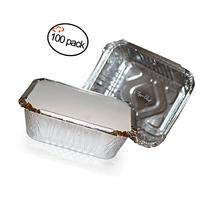 TigerChef Durable Aluminum Oblong Foil Pan Containers with