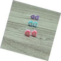 Tiny Heart Earrings on Invisible Clip On Ear Wires for Non-