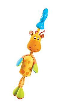 Tiny Love Smarts Wind Chime Clip on Toy, Baby Giraffe