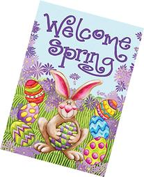 Toland - Welcome Spring - Decorative Double Sided Bunny