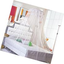 Topixdeals New Elegant Round Lace Curtain Dome Bed Canopy