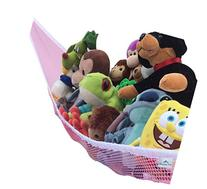 Toy Hammock Pink Large Toy Organizer For Stuffed Animals,