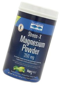 Trace Minerals Research, Stress-X Magnesium Powder, Lemon