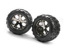 "Traxxas 3668A Talon 2.8"" Tires Pre-Glued on All-Star Black-"