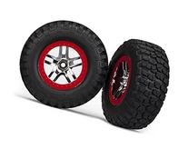 Traxxas 6873A B.F. Goodrich KM2 Tires on Red Short Course