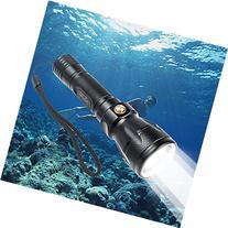 TurnRaise Scuba Dive LED Flashlight 1200Lumen XM-L2