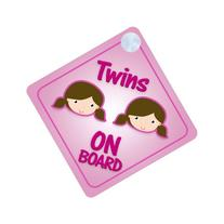 Twins Girls On Board Car Sign New Baby / Child Gift /