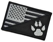 USA Flag / Tracker Paw Scout Emblem 2.25x3.5 Military Patch