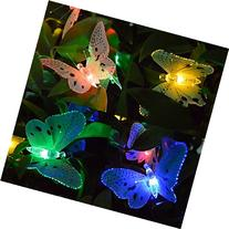 Ucharge S12 Fiber Optic Butterfly Shaped 12 LED Solar String