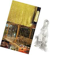 Ucharge Led Light Curtain Icicle Lights 300led 9.8feet