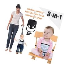 Umin 3-in-1 Portable/ Travel High Chair + Toddler Safety