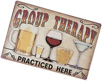 Uniquelover Group Therapy Practiced Here Retro Vintage Tin