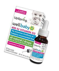 UpSpring  Wellbaby D Vitamin D3 Drops for Baby  20ml  400 IU