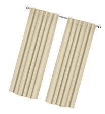 Thermal Insulated Blackout Curtains Beige , 2 Panels , 52