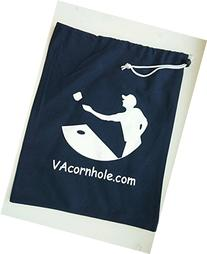 VA Cornhole, Cornhole Bag Tote Canvas Draw String Bag W/