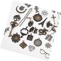 120 pcs Mixed Antique Assorted Mix Tibetan Charms Pendants