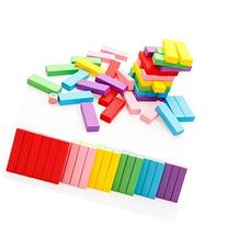 Vidatoy Beech Wooden Toys Colored 48 pcs