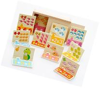 Vidatoy Maths Cognitive and Matching Board Wooden Toys for