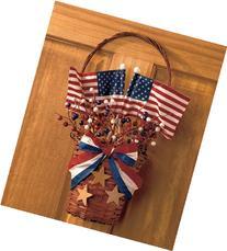 Vintage Patriotic Basket Wall Decor